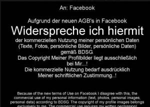 "Datenschutz - Der aktuelle Facebook-Hoax: ""Hiermit widerspreche ich""... - Ferner: Rechtsanwalt für Strafrecht, Verkehrsrecht, IT-Recht Aachen"