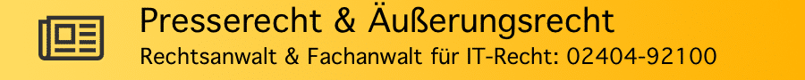 Rechtsanwalt Ferner Alsdorf - Presserecht