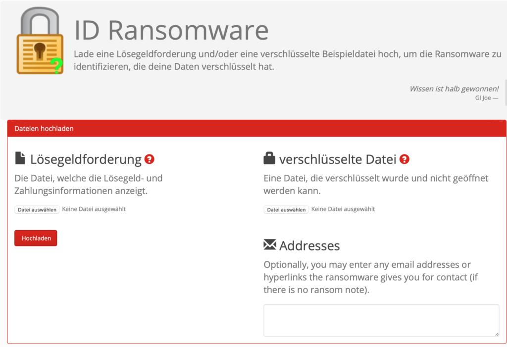 Ransomware identifizieren