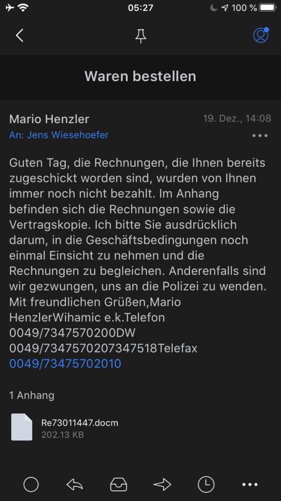 Warnung vor Emotet und getarnten Word-DOCM Dateien (Update 2020) - Ferner: Rechtsanwalt für Strafrecht, Verkehrsrecht, IT-Recht Aachen