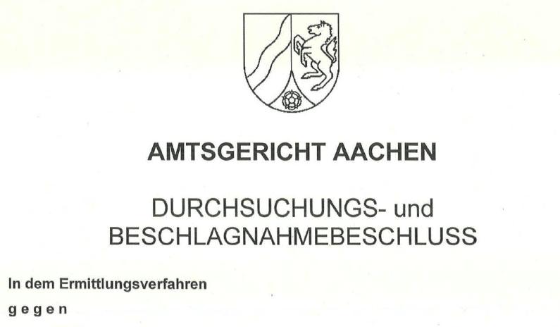 Hausdurchsuchung: Was tun bei Hausdurchsuchung? - Ferner: Rechtsanwalt für Strafrecht, Verkehrsrecht, IT-Recht Aachen