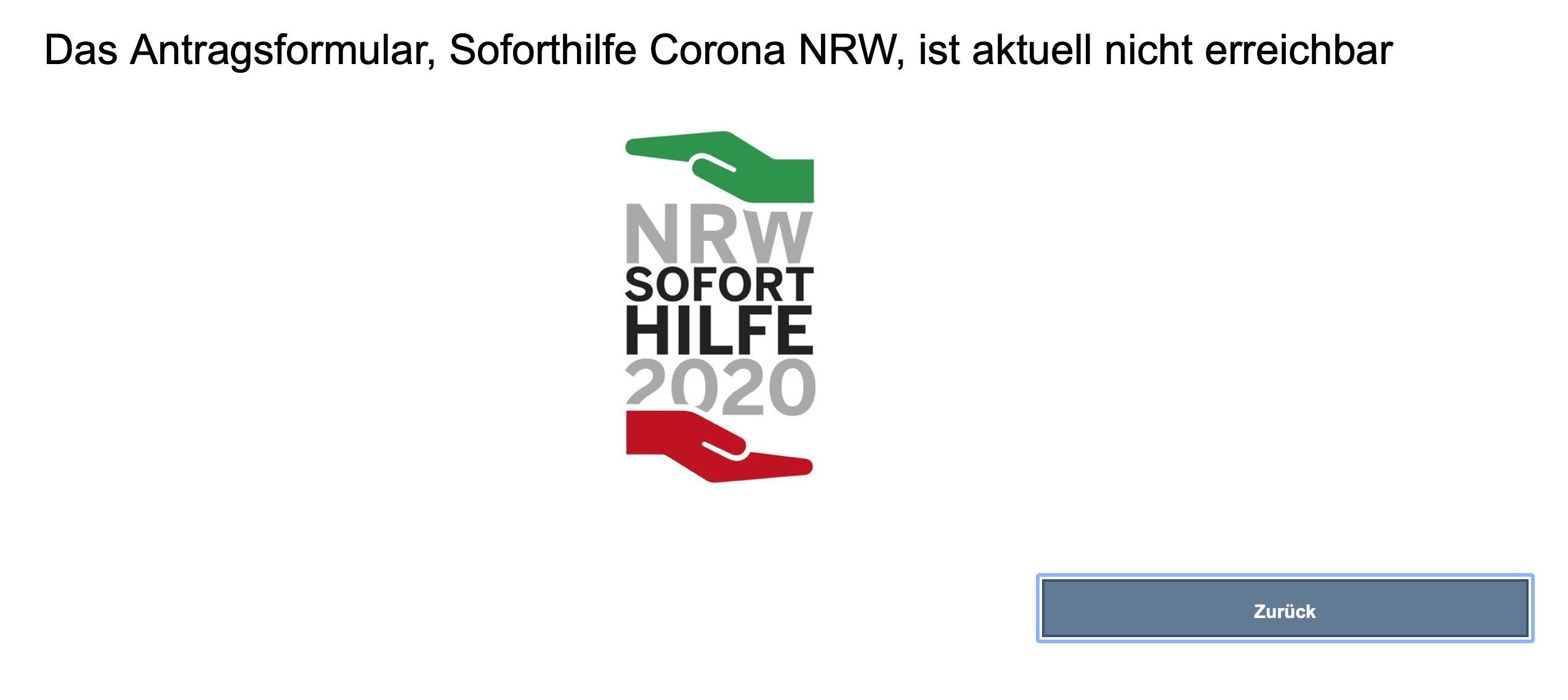 Abschaltung nach Corona-Soforthilfe-Betrug