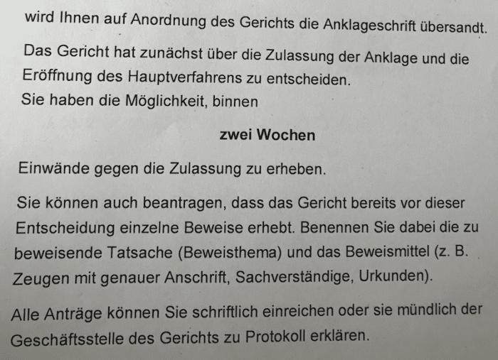 Anklageschrift erhalten - Anklage erhalten - Ferner: Rechtsanwalt für Strafrecht, Verkehrsrecht, IT-Recht Aachen