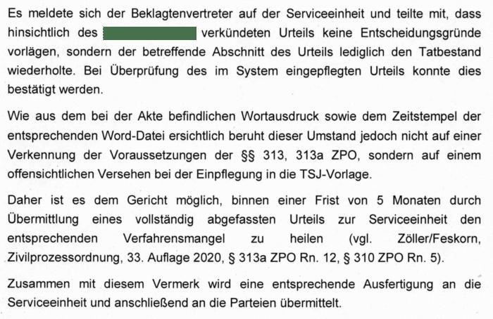ZPO: Urteil mit Tatbestand als Urteilsgrund - Ferner: Rechtsanwalt für Strafrecht, Verkehrsrecht, IT-Recht Aachen